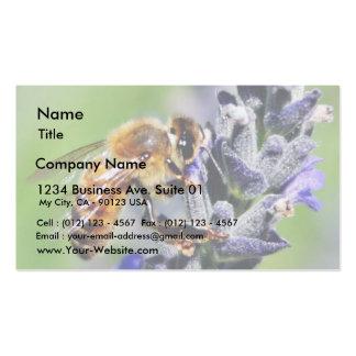 Abejas de las flores tarjetas de visita
