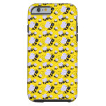 Abejas del dibujo animado funda de iPhone 6 tough