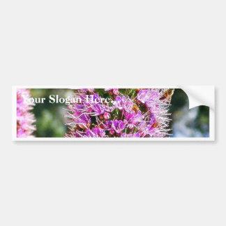 Abejas del Lupine de las flores Pegatina De Parachoque