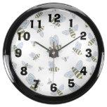 Abejas del vuelo del vector reloj aquavista