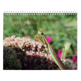 Abejas e insectos en la naturaleza 2015 de las flo calendario