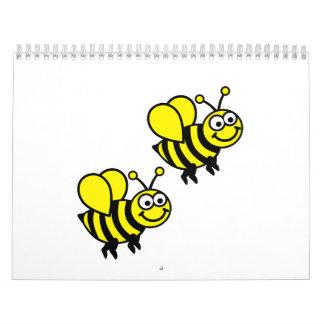 Abejas felices calendarios