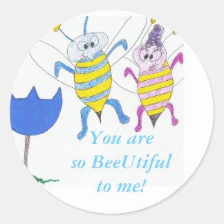 abejas ocupadas en el amor, pegatina