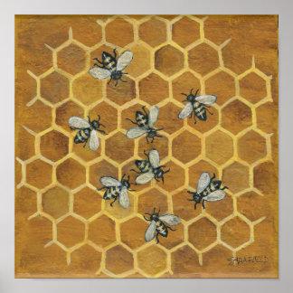 abejas póster