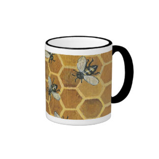 abejas taza a dos colores