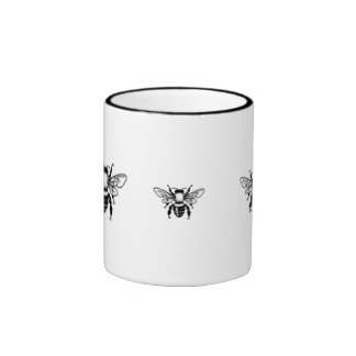 abejas tazas de café