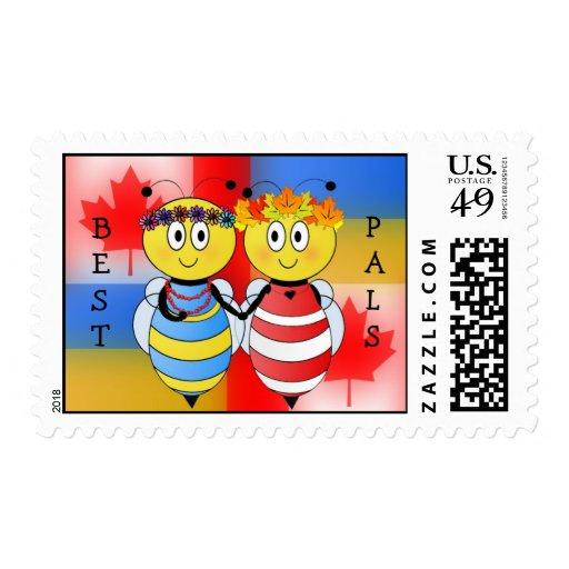 ¡Abejas ucranianas y canadienses! Sello