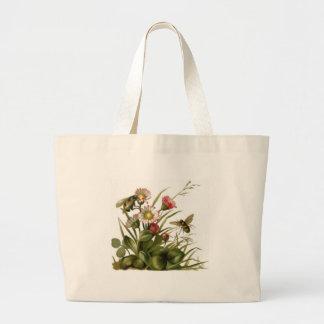 Abejas y flores bolsa de mano