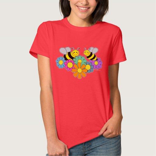 Abejas y flores camisas