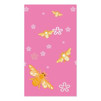 Abejas y flores tarjetas de visita