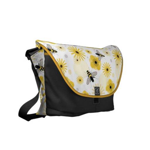 Abejas y la bolsa de mensajero de las flores bolsa messenger