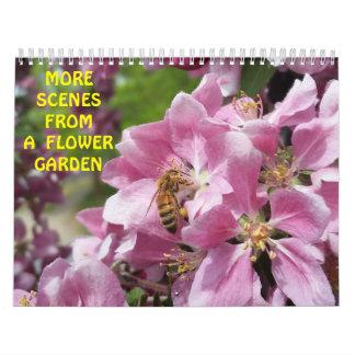 Abejas y mariposas de las flores calendario