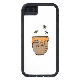 Abejas y miel iPhone 5 funda