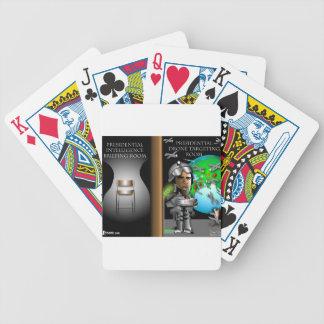 Abejón presidencial que apunta el sitio baraja de cartas