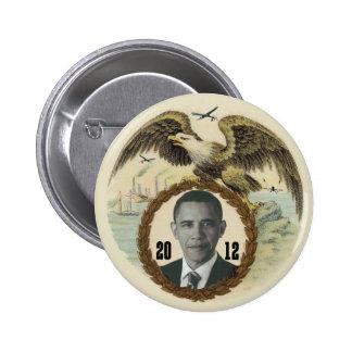 Abejón retro de Obama Eagle Pin Redondo De 2 Pulgadas