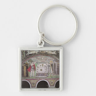 Abel and Melchisedech offering at the Altar Keychain