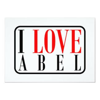 """Abel, diseño de Alabama Invitación 5"""" X 7"""""""