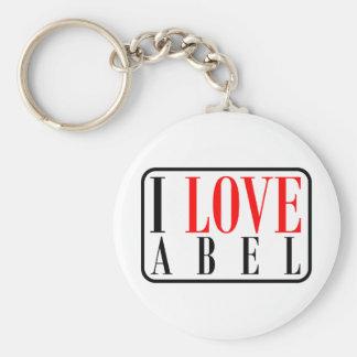 Abel, diseño de Alabama Llavero Redondo Tipo Pin