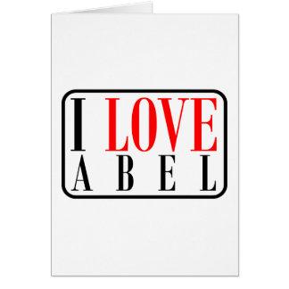 Abel, diseño de Alabama Tarjeta De Felicitación