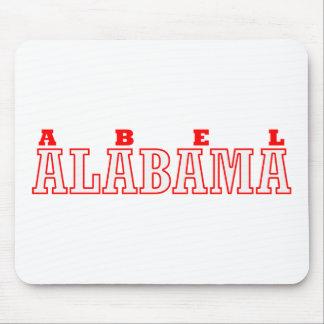 Abel, diseño de la ciudad de Alabama Alfombrillas De Raton