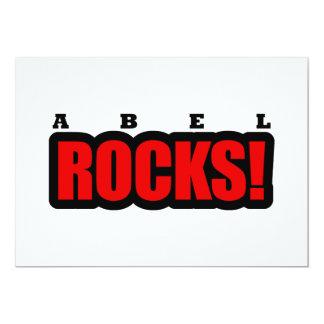 """Abel, diseño de la ciudad de Alabama Invitación 5"""" X 7"""""""
