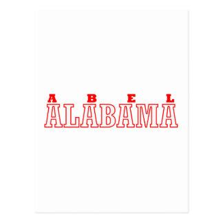 Abel, diseño de la ciudad de Alabama Postales