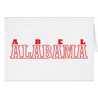 Abel, diseño de la ciudad de Alabama Tarjeta De Felicitación