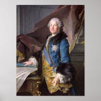Abel Francois Poisson  Marquis de Marigny, 1755 Poster