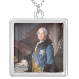 Abel Francois Poisson  Marquis de Marigny, 1755 Silver Plated Necklace