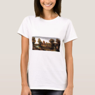 Abel Grimmer A Moated Tower With Farmhouses T-Shirt