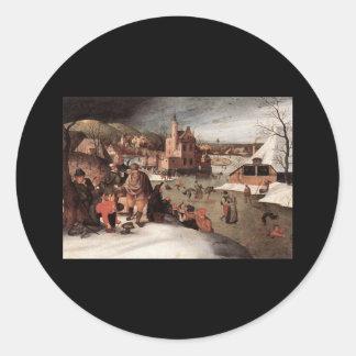 Abel Grimmer Winter Round Sticker