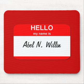 Abel N. Willin (able and willing) Mouse Pad