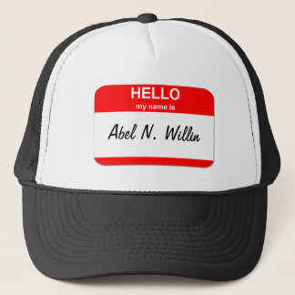 Abel N. Willin (able and willing) Trucker Hat