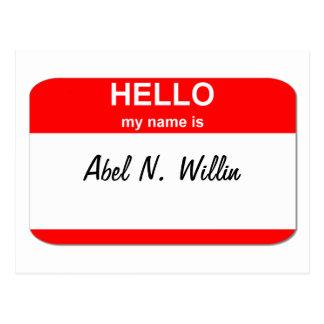 Abel N. Willin (capaz y el querer) Tarjetas Postales