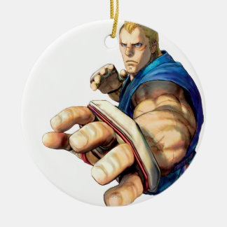 Abel Stance Double-Sided Ceramic Round Christmas Ornament