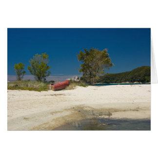 Abel Tasman N.P. Beach & Red Boat Card