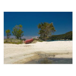 Abel Tasman N.P. Beach & Red Boat Postcard