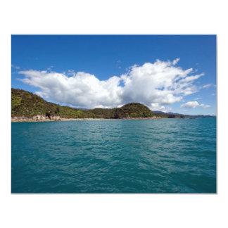 """Abel Tasman N.P. Coast Invitación 4.25"""" X 5.5"""""""