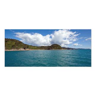 """Abel Tasman N.P. Coast Invitación 4"""" X 9.25"""""""