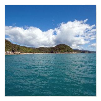 """Abel Tasman N.P. Coast Invitación 5.25"""" X 5.25"""""""
