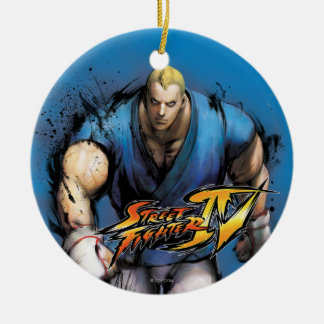 Abel Walking Double-Sided Ceramic Round Christmas Ornament