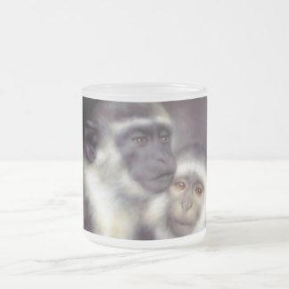 Abelard and Heloise Frosted Glass Coffee Mug