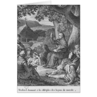 Abelard lecturing in the deserted Champagne Card