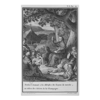 Abelard lecturing in the deserted Champagne Poster