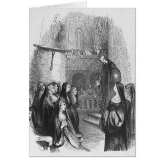 Abelard preaching at Paraclete Card