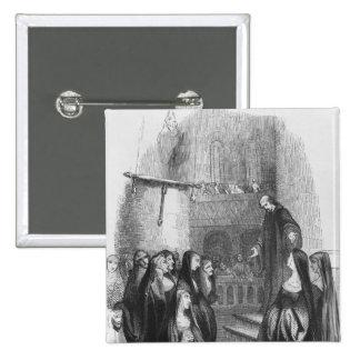 Abelard preaching at Paraclete Pinback Button