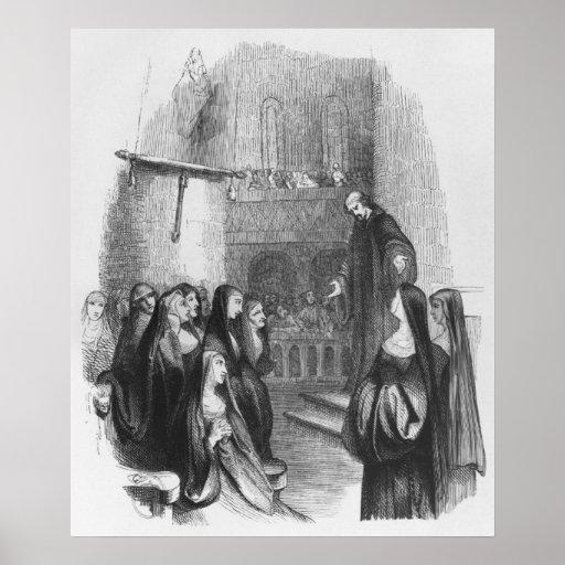 Abelard preaching at Paraclete Poster