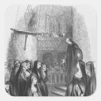 Abelard preaching at Paraclete Square Sticker