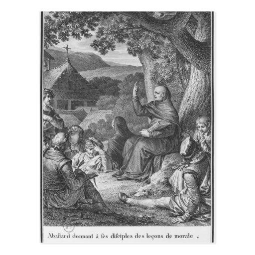 Abelard que da una conferencia en el Champán Postal
