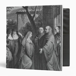 Abelard welcoming Heloise at Paraclete 3 Ring Binder